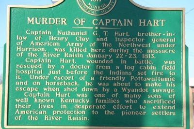 Murder of Captain Hart Marker image. Click for full size.