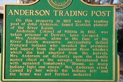 Anderson Trading Post Marker image. Click for full size.
