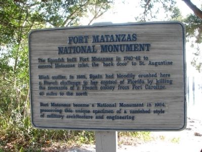Fort Matanzas National Monument Marker image. Click for full size.