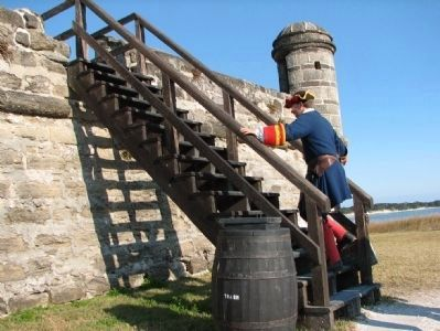 Fort Matanzas Soldier image. Click for full size.