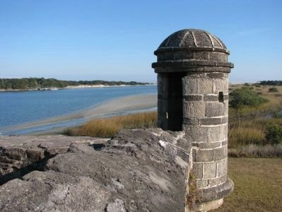 Fort Matanzas Sentry Box image. Click for full size.