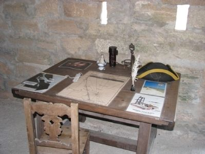 Fort Matanzas Sergeant's Desk image. Click for full size.