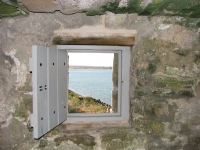 Fort Matanzas Window View image. Click for full size.