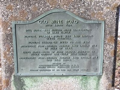 Old Mine Road Marker image. Click for full size.