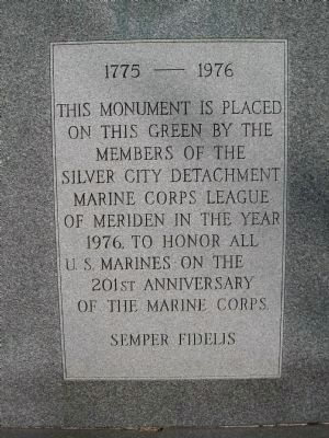 201st Anniversary of the Marine Corps Monument image. Click for full size.