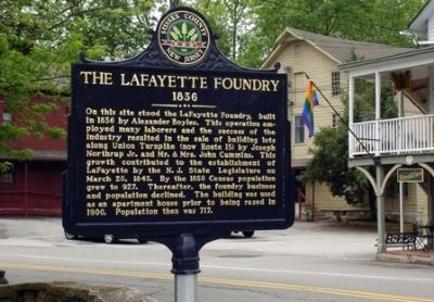 The Lafayette Foundry Marker image. Click for full size.