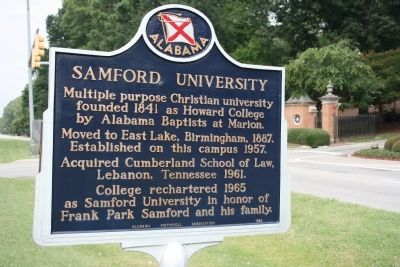 Samford University Marker image. Click for full size.