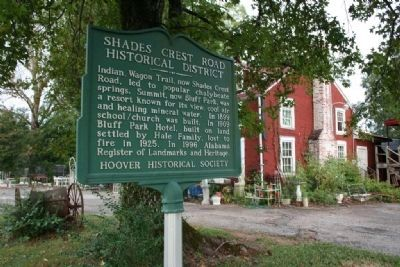Shades Crest Road Historical District Marker image. Click for full size.