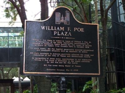 William F. Poe Plaza Marker image. Click for full size.