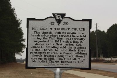 Mt. Zion Methodist Church Marker image. Click for full size.