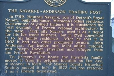 The Navarre - Anderson Trading Post Marker image. Click for full size.