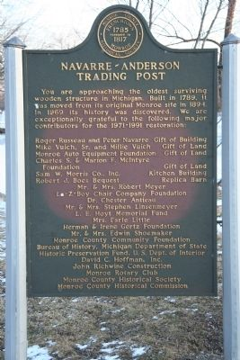 Navarre - Anderson Trading Post Marker image. Click for full size.