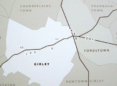 Map on Girley / Fordstown Marker image. Click for full size.