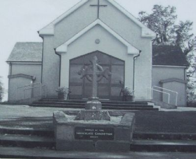 Girley Catholic Church Photo on Marker image. Click for full size.