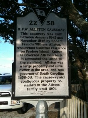 R.F.W. Allston Causeway Marker image. Click for full size.