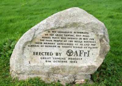 AFrI Great Famine Project Memorial image. Click for full size.