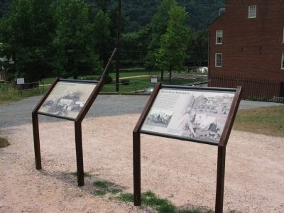 Markers Overlooking John Brown's Fort image. Click for full size.