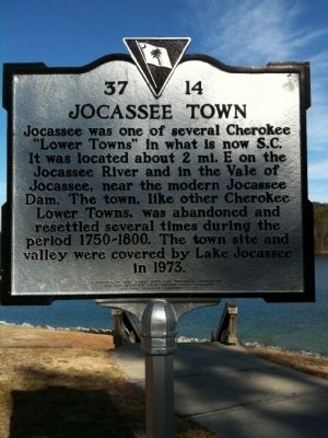 Jocassee Town Marker image. Click for full size.