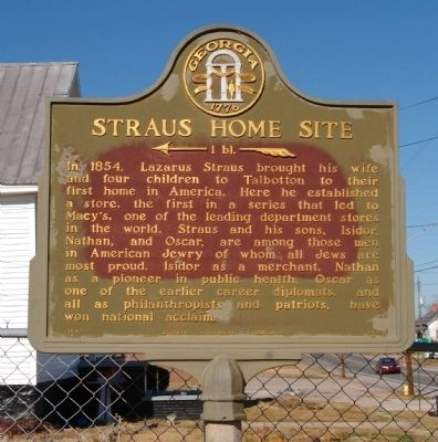 Straus Home Site Marker image. Click for full size.