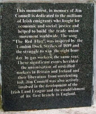 Jim Connell Monument Dedication image. Click for full size.