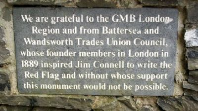 Jim Connell Monument Supporters image. Click for full size.