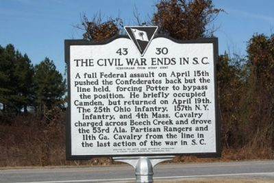 The Civil War Ends In S.C , reverse side image. Click for full size.