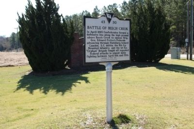 Battle of Beech Creek / The Civil War Ends In S.C Marker image. Click for full size.