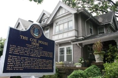 The Coe House & Marker image. Click for full size.