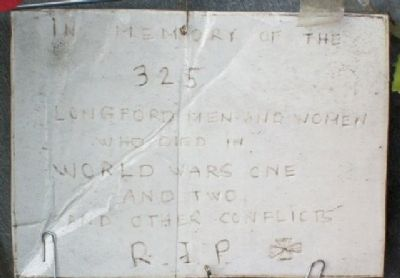 County Longford Great War Memorial NE Face image. Click for full size.
