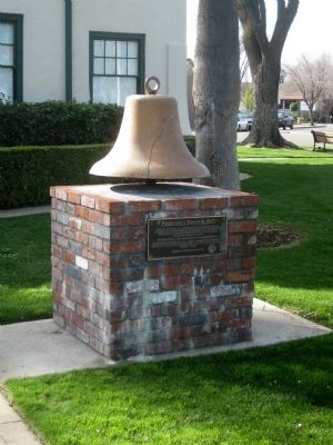 Patterson's Westside Bell Marker, Monument, and Bell image. Click for full size.