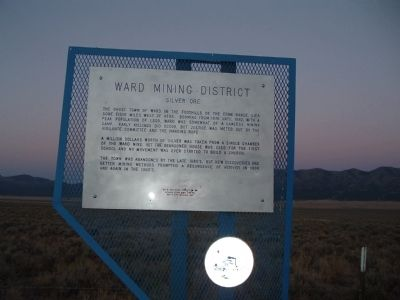 Ward Mining District Marker image. Click for full size.