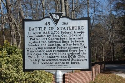 Battle of Stateburg Marker image. Click for full size.