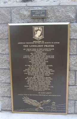 The Loneliest Prayer Plaque image. Click for full size.