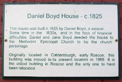 Daniel Boyd House - c.1825 Marker image. Click for full size.