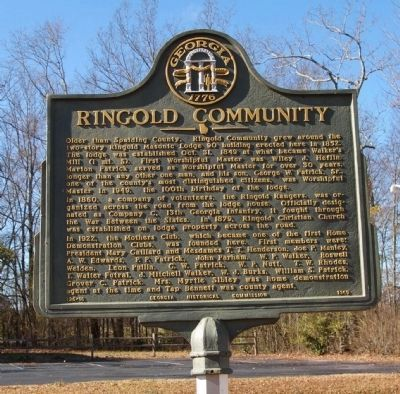 Ringold Community Marker image. Click for full size.