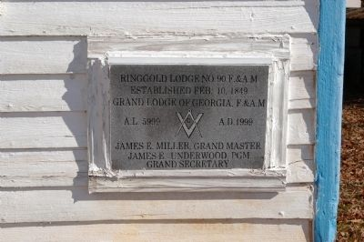 Ringold (or Ringgold) Masonic Lodge Cornerstone image. Click for full size.