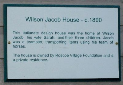 Wilson Jacob House - c.1890 Marker image. Click for full size.