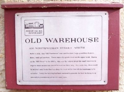 Old Warehouse Marker image. Click for full size.