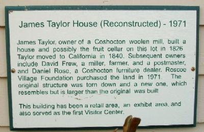 James Taylor House (Reconstructed) - 1971 Marker image. Click for full size.