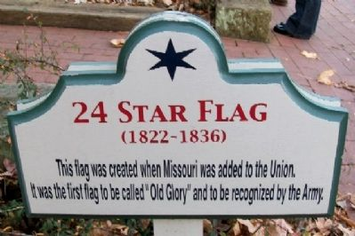 24 Star Flag Marker image. Click for full size.