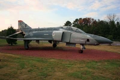 RF-4c Phantom Jet On Display at Aviation Memorial Park image. Click for full size.