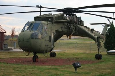 "CH-54 Tarhe ""Skycrane"" On Display at Aviation Memorial Park image. Click for full size."