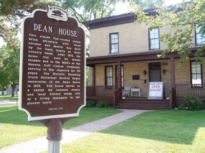 The Dean House Marker image. Click for full size.