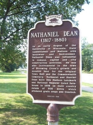 The Dean House Marker (reverse side) image. Click for full size.