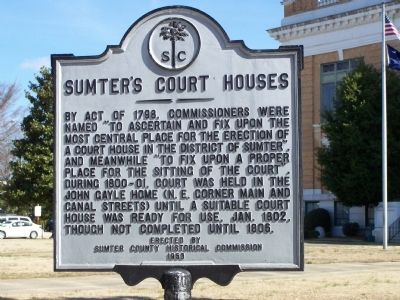 Sumter's Courthouses Marker image. Click for full size.