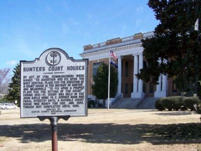 Sumter's Courthouse and Marker image. Click for full size.