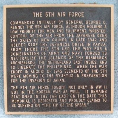 5th Air Force History Marker image. Click for full size.