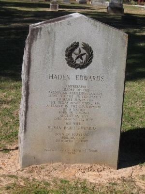 Haden Edwards Marker image. Click for full size.