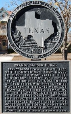 Brandt Badger House Marker image. Click for full size.