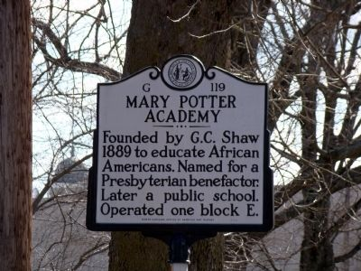 Mary Potter Academy Marker image. Click for full size.